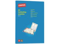 STAPLES Laminat STAPLES A4 klar 75 mic 100/pk. (6636101)