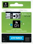 DYMO D1 Tape / 6mm x 7m / Black Text / Transparent Tape (S0720770)