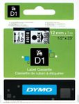 DYMO D1 12mm Black/ Clear labels (S0720500 $DEL)