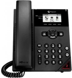 POLYCOM VVX 150 2-LINE BIZ-IP-PHONE DUAL 10/100 ETHERNET-NO PSU      IN PERP (2200-48810-025)