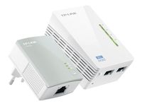 TP-LINK AV500, 300Mbps 2-port Wireless N Powerline Extender Kit/ including TL-WPA4220  and TL-PA4010 (TL-WPA4220KIT)