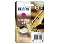 EPSON 16 ink cartridge magenta standard capacity 3.1ml 165 pages 1-pack blister without alarm (C13T16234012)