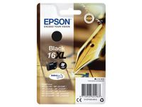 EPSON 16XL ink cartridge black high capacity 12.9ml 500 pages 1-pack blister without alarm (C13T16314012)