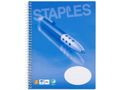 STAPLES Kollegieblok STAPLES A5 2hul lin
