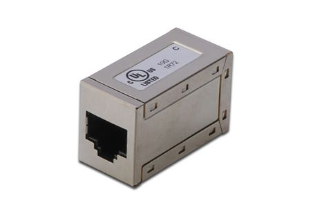 DIGITUS CAT6A MOD.COUPLER.FULL SHIELDED GR CABL (DN-93905)