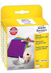 AVERY Roll Labels 19mm x 51mm Multi-purpose Labels White (AS0722550)