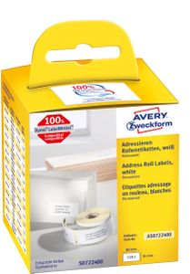 AVERY Roll Labels 36mm x 89mm Address Labels White, Large (AS0722400)