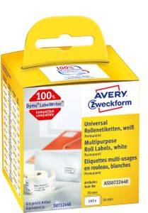 AVERY universaletiket på rulle 70x54mm (160) (ASS0722440*6)