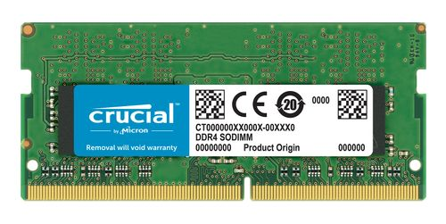 CRUCIAL 16Gb, 2400MHz DDR4, CL17, DRx8, SODIMM, 260pin (CT16G4SFD824A)