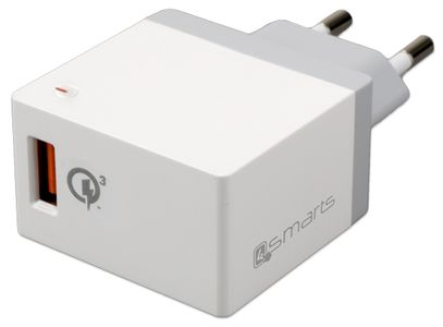 4smarts Wall Charger Qualcomm Quickcharge 3A/18W Max White (465492)