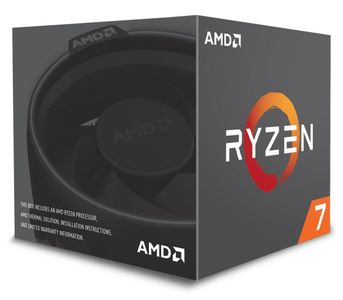 AMD Ryzen 7 2700 with Wraith Spire LED - Pinnacle Ridge CPU - 3.2 GHz - Socket AM4 - 8 kerner -  Boxed (PIB - med køler) (YD2700BBAFBOX)