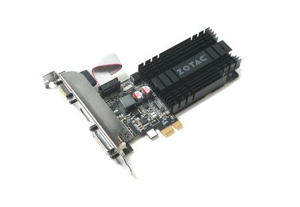 ZOTAC GeForce GT 710, 1GB DDR3 (64 Bit), HDMI, DVI, VGA (ZT-71304-20L)