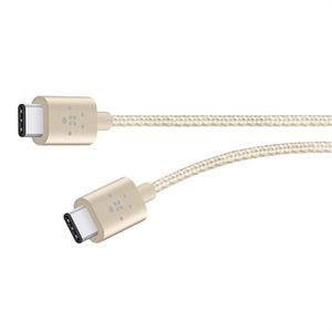 BELKIN CABLE PREMIUM USB 2.0 TYPE C-TYPE C 3A,6 GOLD (F2CU041bt06-GLD)
