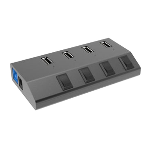 WINSTARS USB 3.0 hub 4port with individual power switch (WS-UH3049)