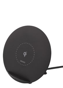 DELTACO Wireless Charger for iPhone and Android, 5W, QI Certified,  bla (QI-1025)