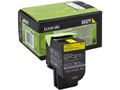 LEXMARK 80C20Y0 return toner yellow