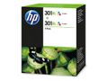 HP 301XL Tri-colour Ink Crtg Twin Pack