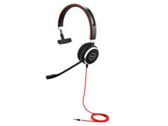 JABRA EVOLVE 40 MS Mono USB Headband Noise cancelling USB connector with mute-button and volume control on the cord
