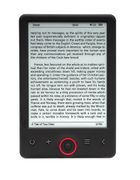 "DENVER 6"" E-ink Ebook reader w light"