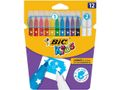 BIC Fiberpenn Bic Kids Colour & Erase  (12)
