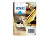 EPSON 16 ink cartridge cyan standard capacity 3.1ml 165 pages 1-pack blister without alarm (C13T16224012)