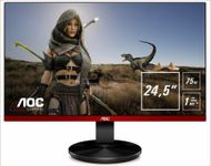 "AOC 24,5"", 1920x1080,  TN, 75 HZ, 1 ms GtG, Free-Sync,  DP/ HDMI/ VGA,  Speakers, VESA, Anti Blue Light Technology (G2590VXQ)"