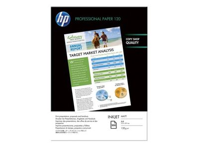 HP Professional matt papir for blekk – 200 ark/ A4/ 210 x 297 mm (Q6593A)