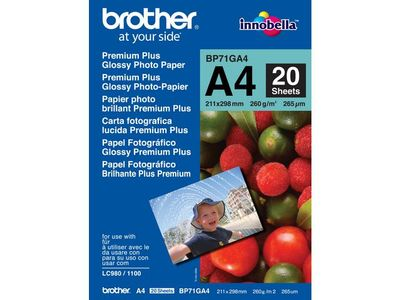 BROTHER A4 Glossy Paper (BP71GA4)
