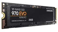 SAMSUNG 970 EVO 250GB SSD NVMe 1.3, M.2, V-NAND MLC, up to 3400/ 1500MB/ s read/ write,  150TBW (MZ-V7E250BW)