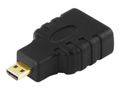 DELTACO HDMI-adapter, HDMI High Speed with Ethernet, micro HDMI 19-pin
