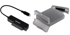 DELTACO USB3.1 GEN2 TypeC  HDD Adapter with Protective Box