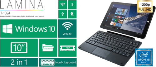 "CAPTURE Tablet 10,1"" IPS WIN10H Nordic (LINX T1024)"