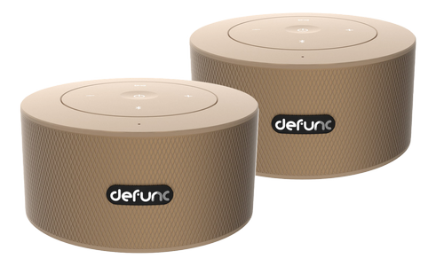 DEFUNC DUO, Bluetooth-högtalare,  duo-pack, 360 graders ljud, goldish (D2087)