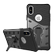 DELTACO Sniper Case for iPhone X, rotating stand, thermal grooves, dark grey