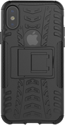 DELTACO Dazzler Case for iPhone X, shockproof, thermal grooves, black