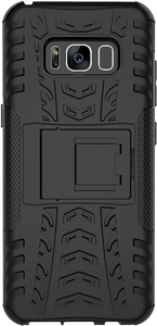 DELTACO Dazzler Case for Galaxy S8, shockproof,  thermal grooves, black (S8-102)