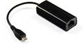 MICROCONNECT USB MICRO to Ethernet, Black