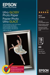 EPSON Ultra glossy photo paper inkjet 300g/m2 A4 15 sheets 1-pack (C13S041927)