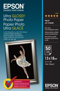 EPSON S041944 Ultra glossy photo paper inkjet 300g/m2 130x180mm 50 sheets 1-pack (C13S041944)