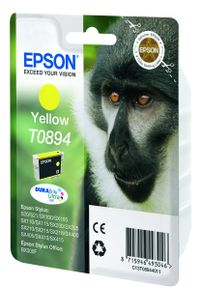 EPSON T0894 ink cartridge yellow low capacity 3.5ml 1-pack blister without alarm (C13T08944011)