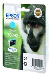 EPSON T0892 ink cartridge cyan low capacity 3.5ml 1-pack blister without alarm (C13T08924011)