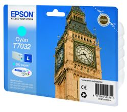 EPSON cartridge L cyan for WP 4000/4500 800 pages WP-4015DN WP-4025DW WP-4515DN WP-4525DNF WP-4535DWF WP-4545DTWF (C13T70324010)