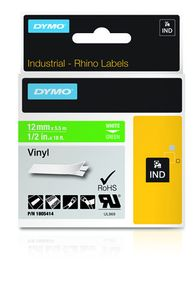 DYMO Rhino 12 mm Vinyl white on Green (1805414)