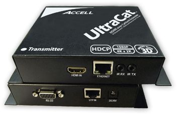 ACCELL UltraCat HD HDMI-Cat5e High Speed Extender Transmitter and Receiver Units - Video/ audio/ infrarød/ seriel... (E090C-003B)