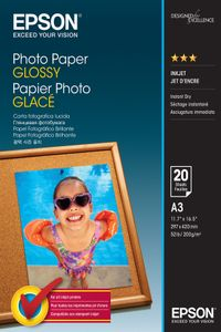 EPSON Photo Paper Glossy A3 20 sheets (C13S042536)