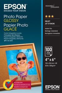 EPSON Photo Paper Glossy 10x15cm 100 sheet (C13S042548)