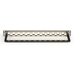 BLACK BOX Blank Patch Panel CAT6A Staggered - 24 port Factory Sealed (C6AMP70-24)