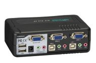 BLACK BOX ServSwitch DT Pro II Kit, 1920 x 1440 pixel, USB, PS/2, USB, PS/2, VGA, Sort, 0 - 40 °C (KV7020A-K)