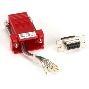 BLACK BOX COLOURED MODULAR ADAPTERS - RED, RJ-45 F/DB9 F (FA4509F-RD)