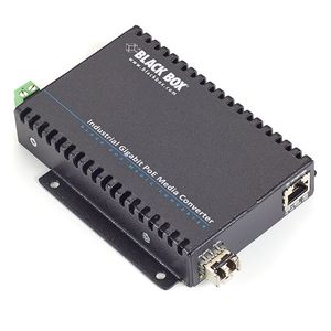 BLACK BOX POE INDUSTRIAL GIGABIT ETHERNET MEDIA CONVERTER - FIBRE SFP (LGC5300A)